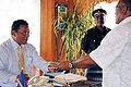 Nauru President Marcus Stephen and Steven McGann.jpg