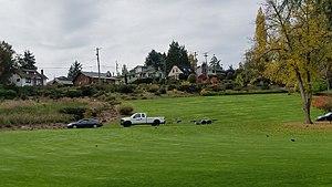 North Tacoma, Tacoma, Washington - Homes bordering Point Defiance Park