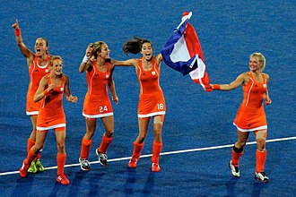 Netherlands women's national field hockey team - Netherlands hockey women celebrate - 2012 Olympics