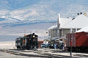 White Pine County, Nevada - Steam excursion train at the Nevada Northern Railway Museum's East Ely depot