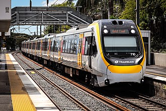Queensland Rail City network - NGR 710 at Yeronga in 2018.