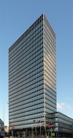 Co-op Insurance - The Grade II listed CIS Tower, designed by G.S. Hay and Gordon Tait.