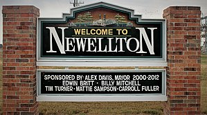 Newellton, Louisiana - Newellton welcome sign erected by the town council in 2012
