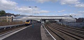 Newport railway station Railway station in Newport, Wales
