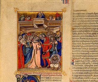 Niccolò da Bologna - Image: Niccolò da Bologna The Marriage, 1350s, miniature on vellum, National gallery of Art, Washington DC