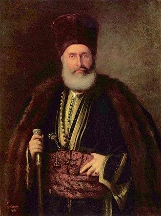 Udriște Năsturel - Constantin Năsturel-Herescu, Udriște's last direct heir. 1870 portrait by Nicolae Grigorescu