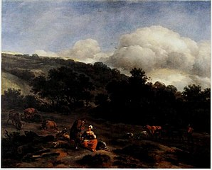 Hilly Landscape with Herders