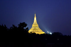 Night View of Global Vipassana Pagoda, Mumbai.jpg