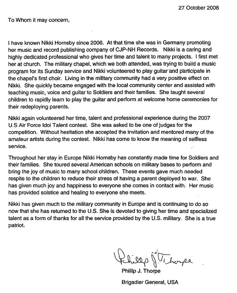 FileNikki Hornsby military recommendation letterjpg – Letter of Recommendations