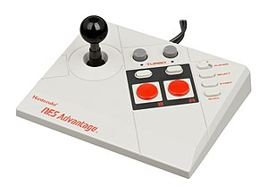 Arcade controller - The NES Advantage, one of the earliest arcade imitations for a home console