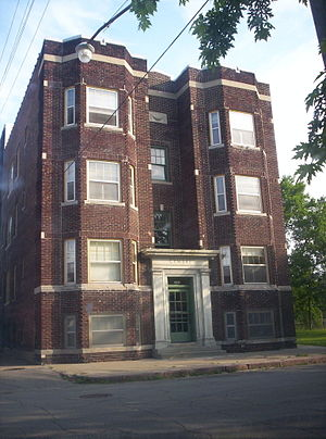 North Corktown, Detroit -  Apartment building typical of the neighborhood.