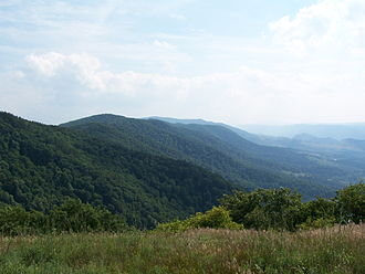 Allegheny Mountains - Image: North Fork Mountain Looking South from Nelson Sods