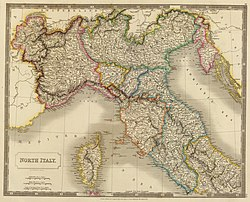 Northern Italy in 1815.