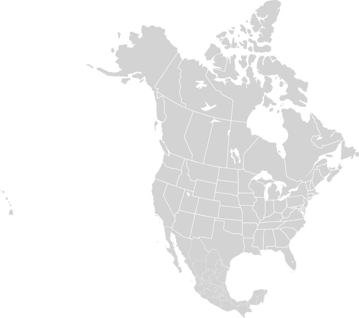 map of american continent