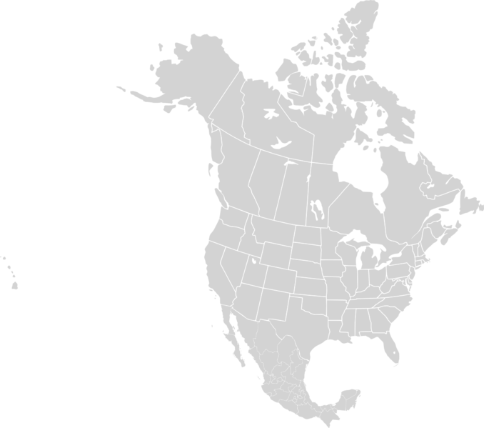 Blank Map Of North America Physical Features - North america physical blank map