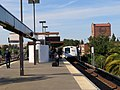 Northbound train leaving Concord station, May 2018.JPG