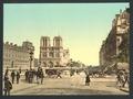 Notre Dame, and St. Michael bridge, Paris, France-LCCN2001698531.tif