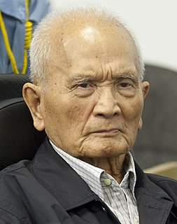 Nuon Chea Cambodian politician and war criminal