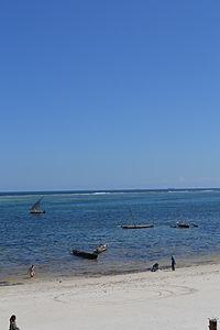 Nyali Beach from the Reef Hotel during high tide in Mombasa, Kenya 49.jpg
