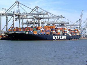 Nyk Vesta, at the Amazone harbour, Port of Rotterdam, Holland 08-Apr-2007.jpg