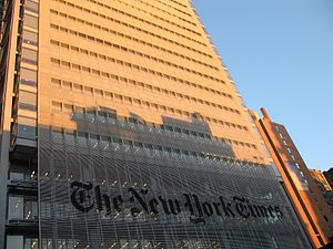 Margaret Sullivan (journalist) - The New York Times headquarters in New York City