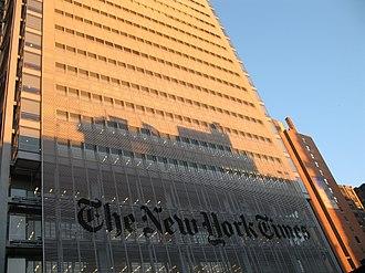 Margaret Sullivan (journalist) - The New York Times headquarters in New York City