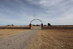 O'Donnell, Texas - Image: O'Donnell Texas cemetery 2011