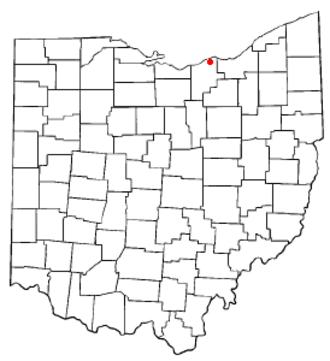 Sheffield, Ohio - Image: OH Map doton Sheffield