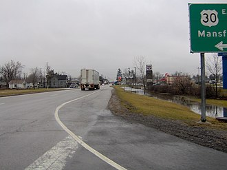 Ohio State Route 100 - State Route 100 concurrent with State Routes 4 and 19 near Bucyrus
