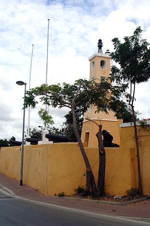 Bonaire - Fort Oranje in Kralendijk, built in 1639.