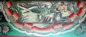 Oath of the Peach Garden - An mural depicting the Oath of the Peach Garden inside the Long Corridor on the grounds of the Summer Palace in Beijing, China.