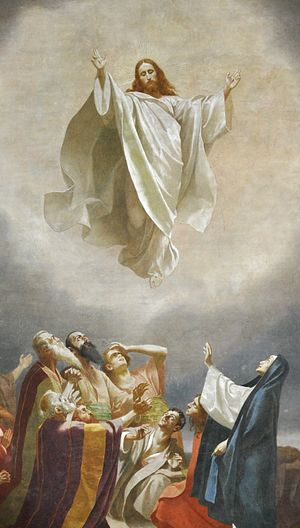 Feast of the Ascension - Image: Obereschach Pfarrkirche Fresko Fugel Christi Himmelfahrt crop