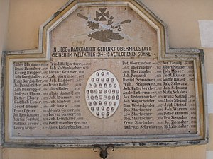 Carinthia - War memorial commemorating soldiers from the village of Obermillstatt who died in World War I.