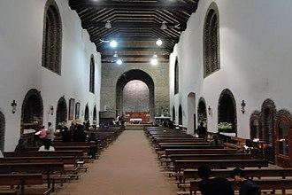 Ocosingo - Inner view of the church in Ocosingo