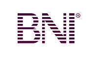 "The acronym ""BNI"" in a violet font, BNI's current corporate logo."