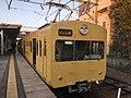 Ohmi railway 821 at Omi hachiman 20200414.jpg