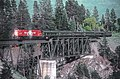 Okanagan Express CP 8836 and 8839 wide angle view crossing Trout Creek Bridge, West Summerland, BC on May 23, 1983 (35232163840).jpg