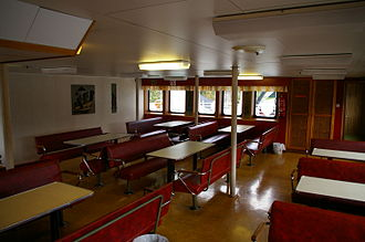 Ferry - Passenger area of a Norwegian ferry