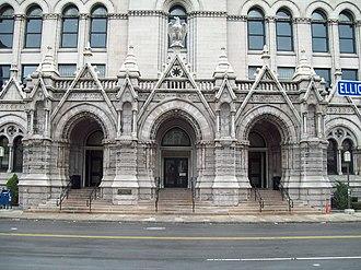 Old Post Office (Buffalo, New York) - Image: Old Post Office Buffalo NY Entrance Dec 09