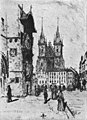 Old Town Hall and Týn Church in the book The Old Town Hall of Prague.jpg