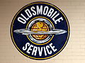 Oldsmobile Service, enamel advertising sign.JPG