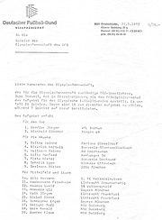 Olympia-Berufung DFB 1972-1