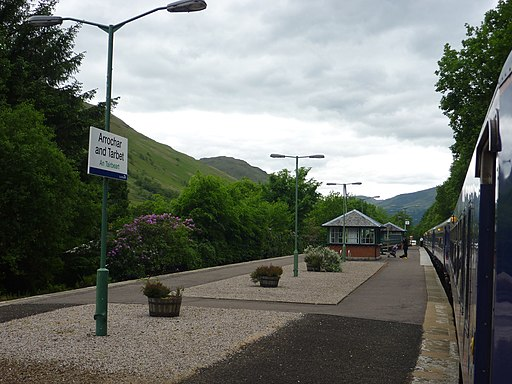 On The West Highland Line - Arrochar and Tarbet Station from geograph-2982082-by-Richard-West