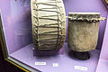 One sided and two sided drum, Lake Malawi Museum.jpg