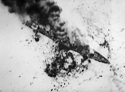 The Iranian frigate, IS Alvand, attacked by US Navy forces during Operation Praying Mantis OperationPrayingMantis-IS Alvand.jpg