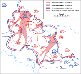 Tatsinskaya Airfield - Operation Little Saturn with the Tatsinskaya Raid near the bottom