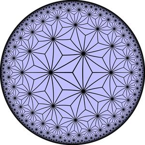 Truncated heptagonal tiling - Image: Ord 7 triakis triang til