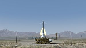 Pad abort test - Artist's concept of an Orion pad abort test.