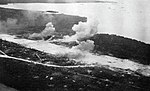 Orote airfield on Guam under attack by U.S. carrier aircraft, in mid-July 1944.jpg