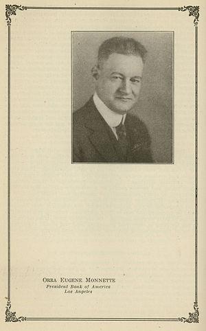 Orra E. Monnette - Orra Eugene Monnette Founder Bank of America Los Angeles